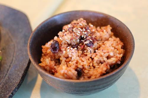 リブロースステーキ 玄米