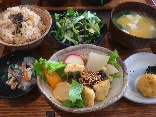 さっぱりポン酢と有機野菜のサバ竜田揚げ