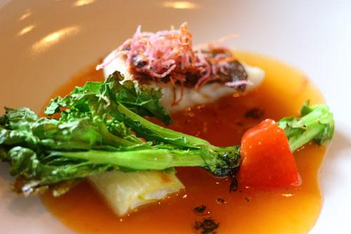 平目 魚介スープ