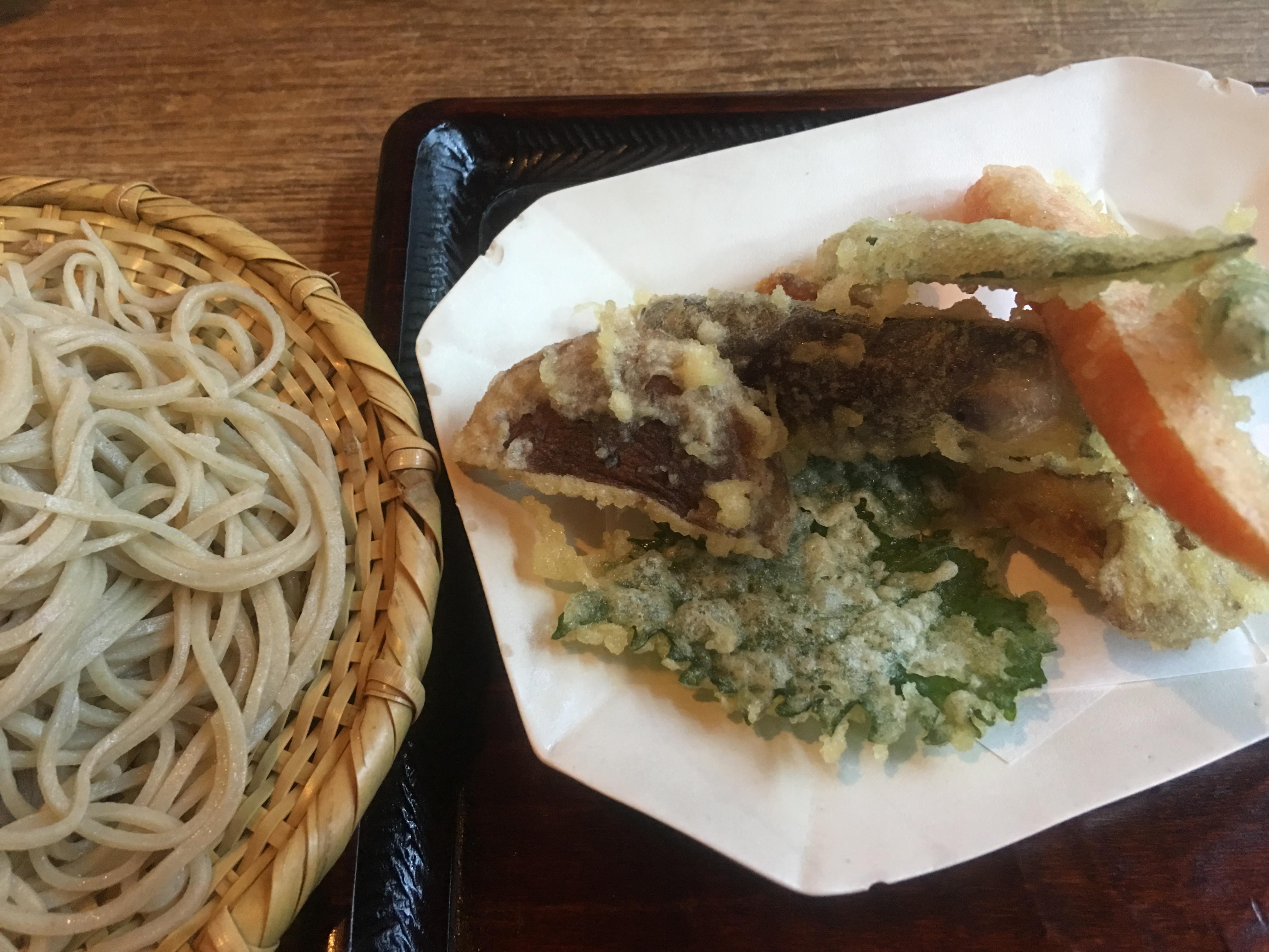 野菜天ぷら+盛りそば